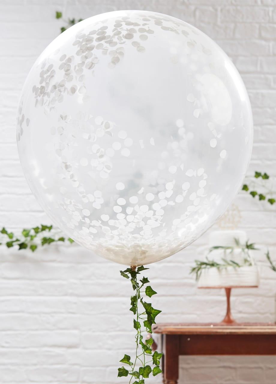 Balony GIGANTY z konfetti (3szt.)