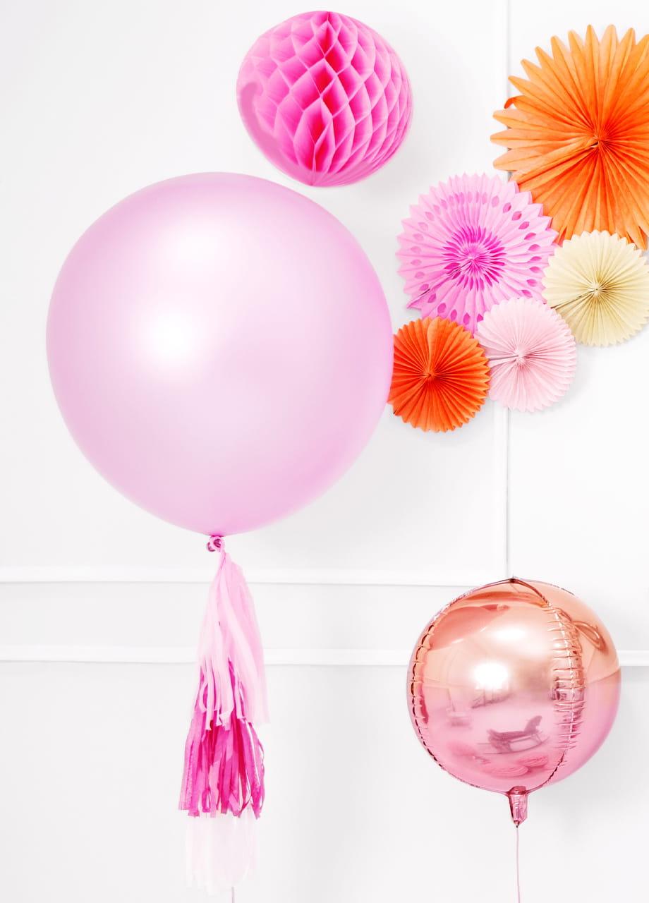 Balon pastelowy OLBRZYM różowy 1m