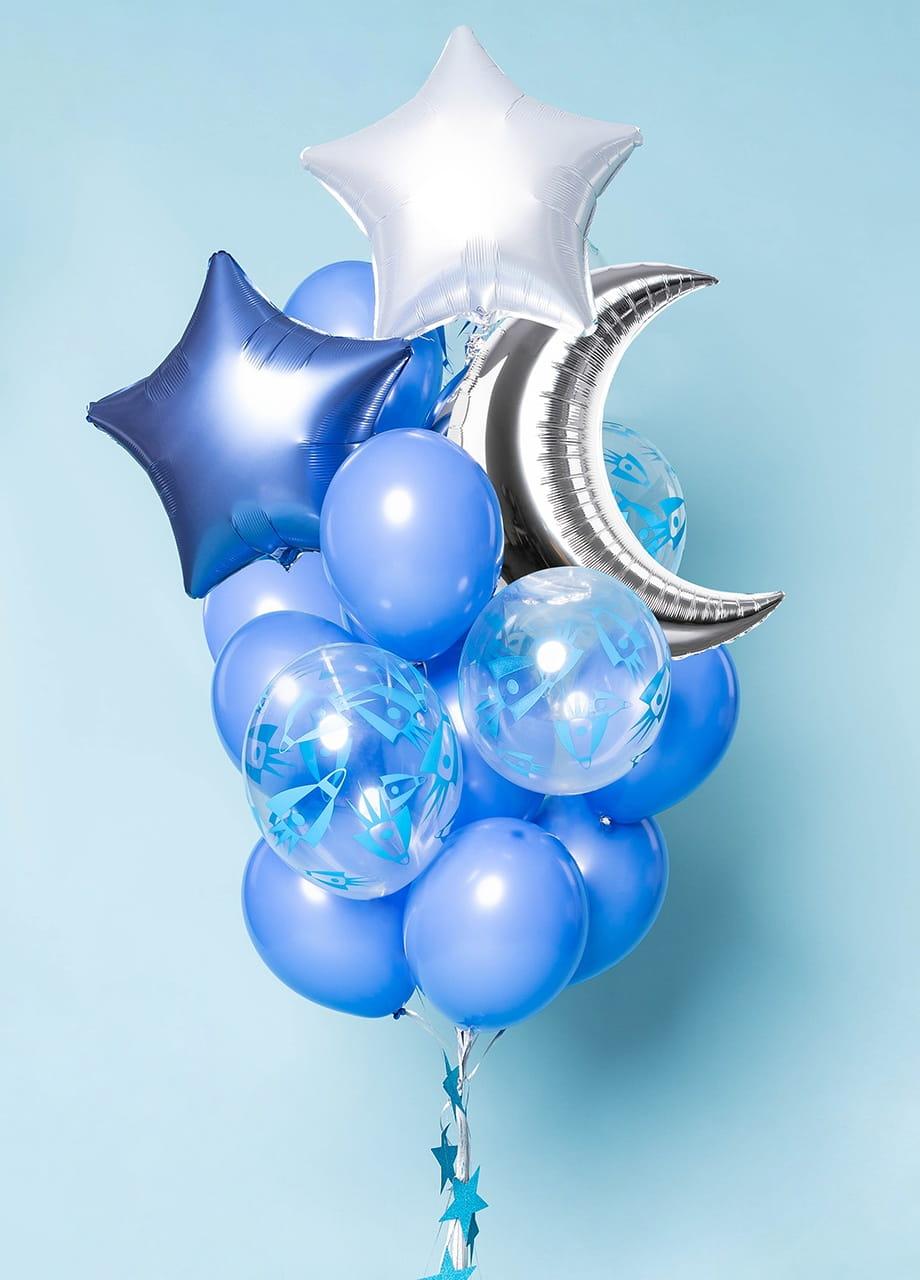 Balony pastelowe NIEBIESKIE chabrowe 30cm (10szt.)