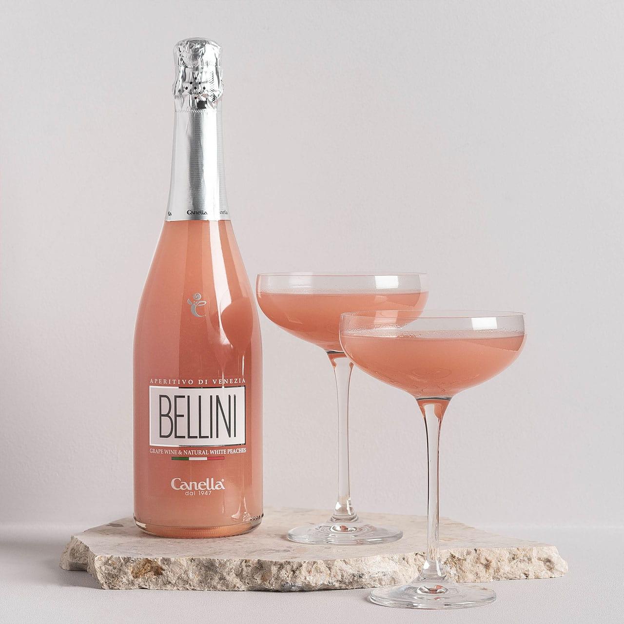Bellini z kieliszkami to elegancki prezent dla niani