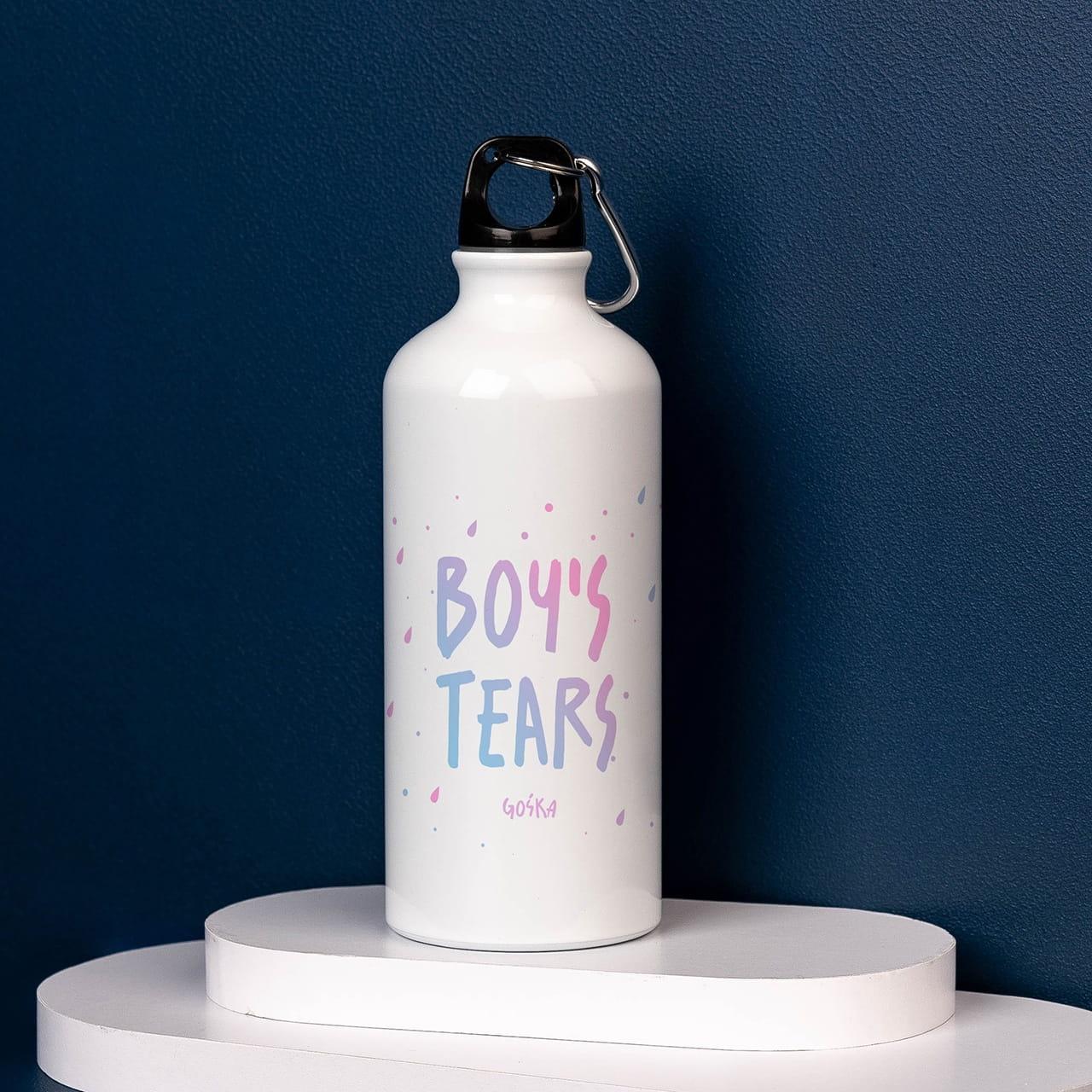 Bidon z nadrukiem BOY`S TEARS prezent dla przyjaciółki na urodziny
