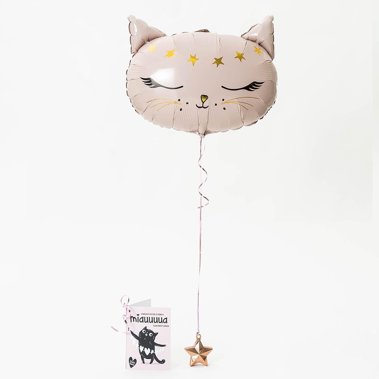 Balon w pudełku + kartka jako upominek na roczek