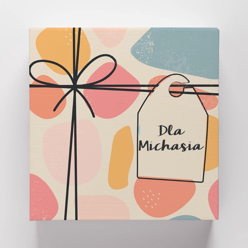 Personalizowane pudełko prezentowe PREZENT Z BILECIKIEM