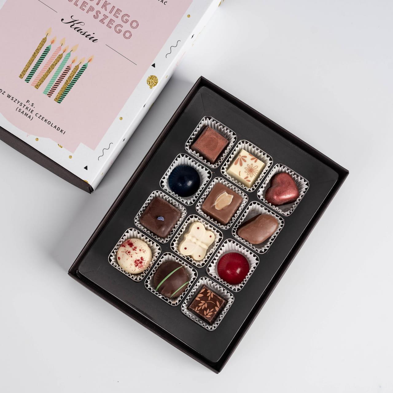 Czekoladki belgijskie jako prezent na urodziny dla Ani