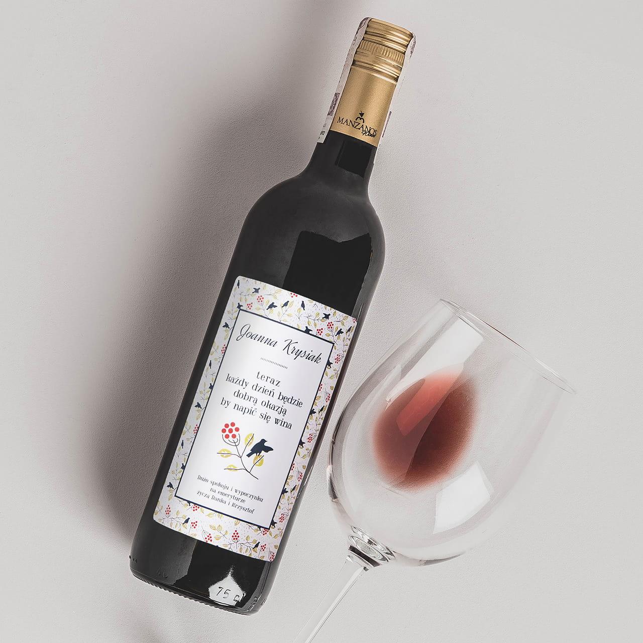Wino to elegancki prezent dla emeryta