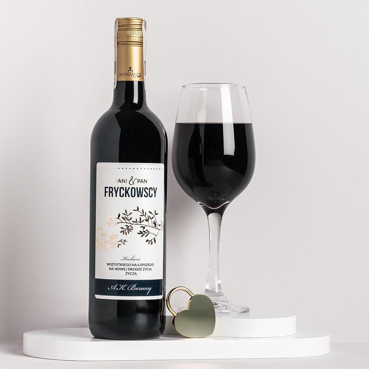 Wino na prezent ślubny ZŁOTE GAŁĄZKI