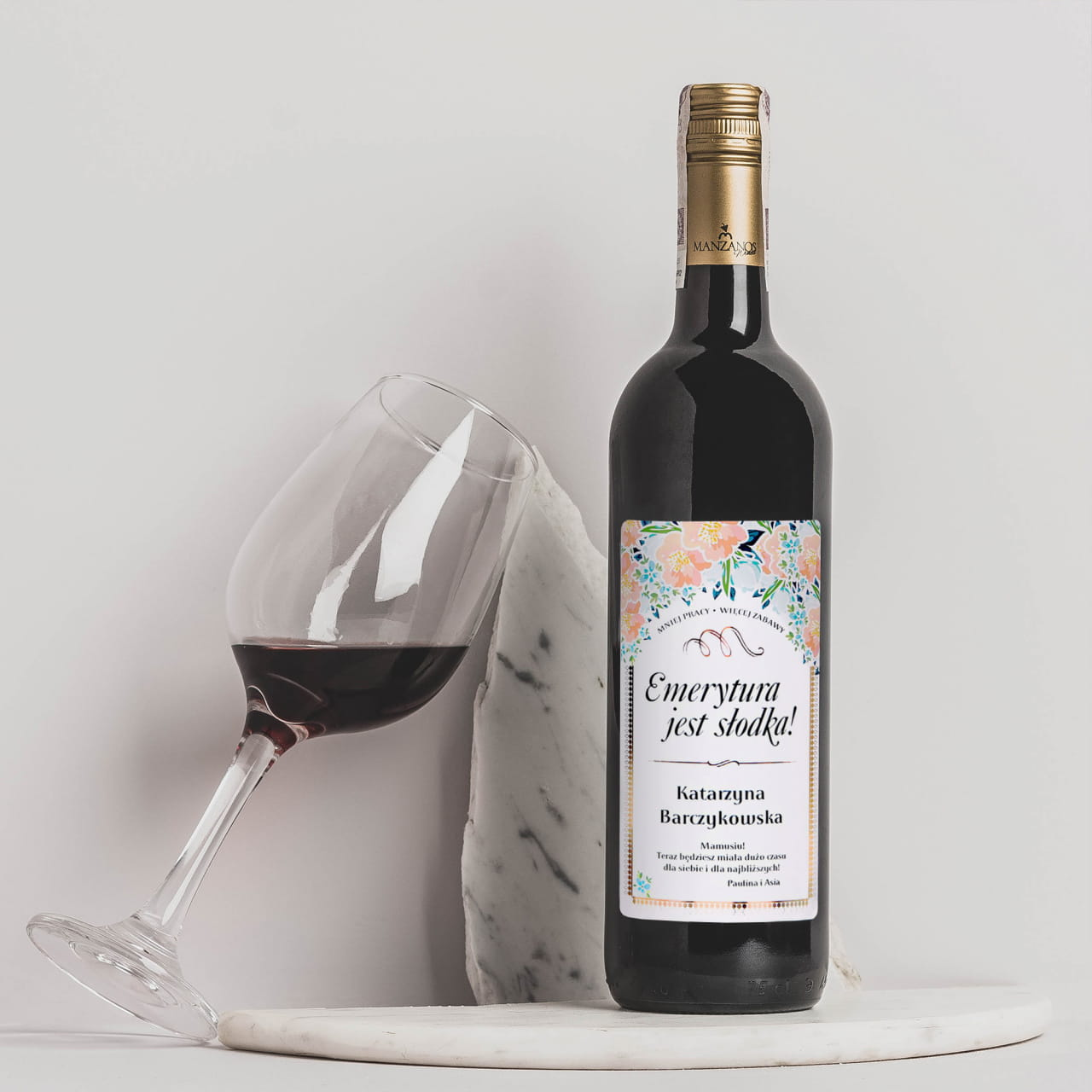 Wino na prezent z okazji przejścia ne emeryturę