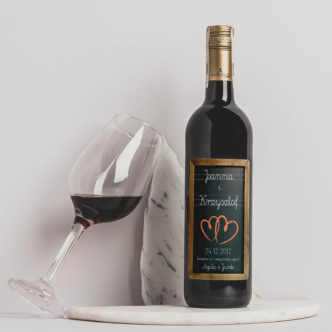 Wino dla Pary Młodej TABLICA