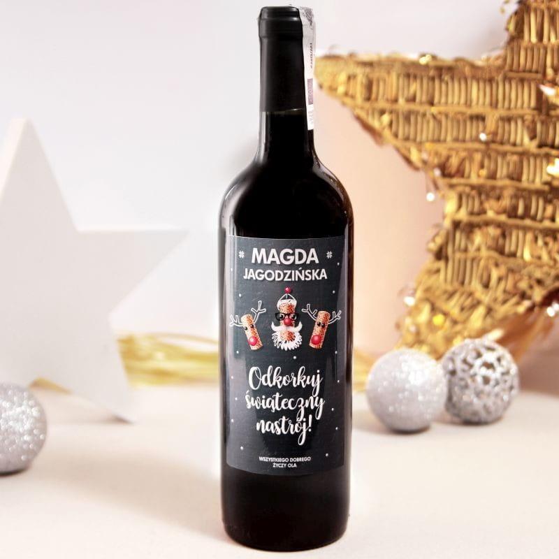 Czerwone wino bezalkoholowe ZAKORKOWANE