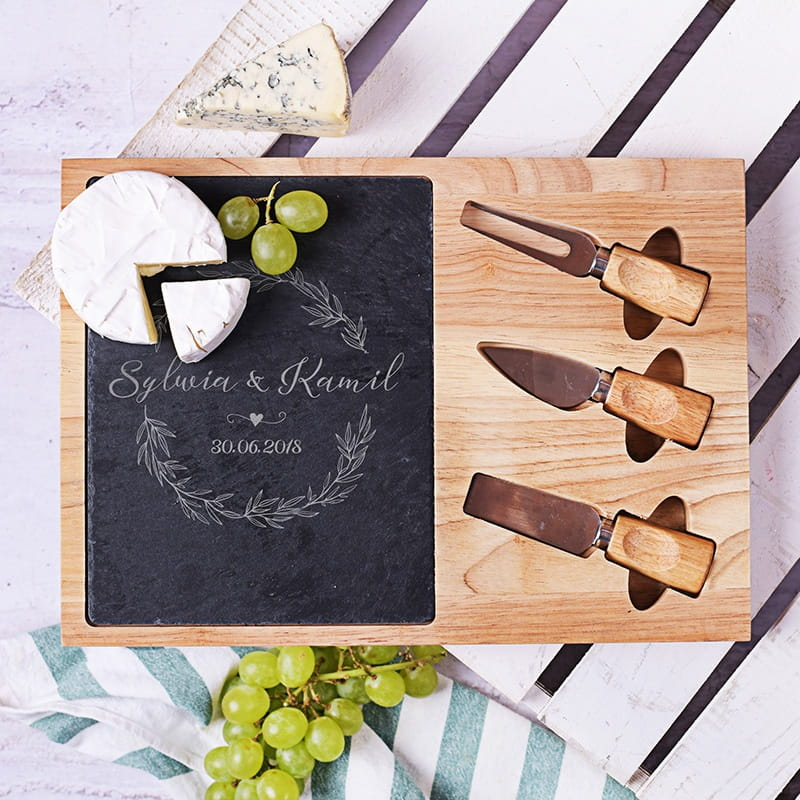 Deska do serwowania serów na prezent dla męża i żony