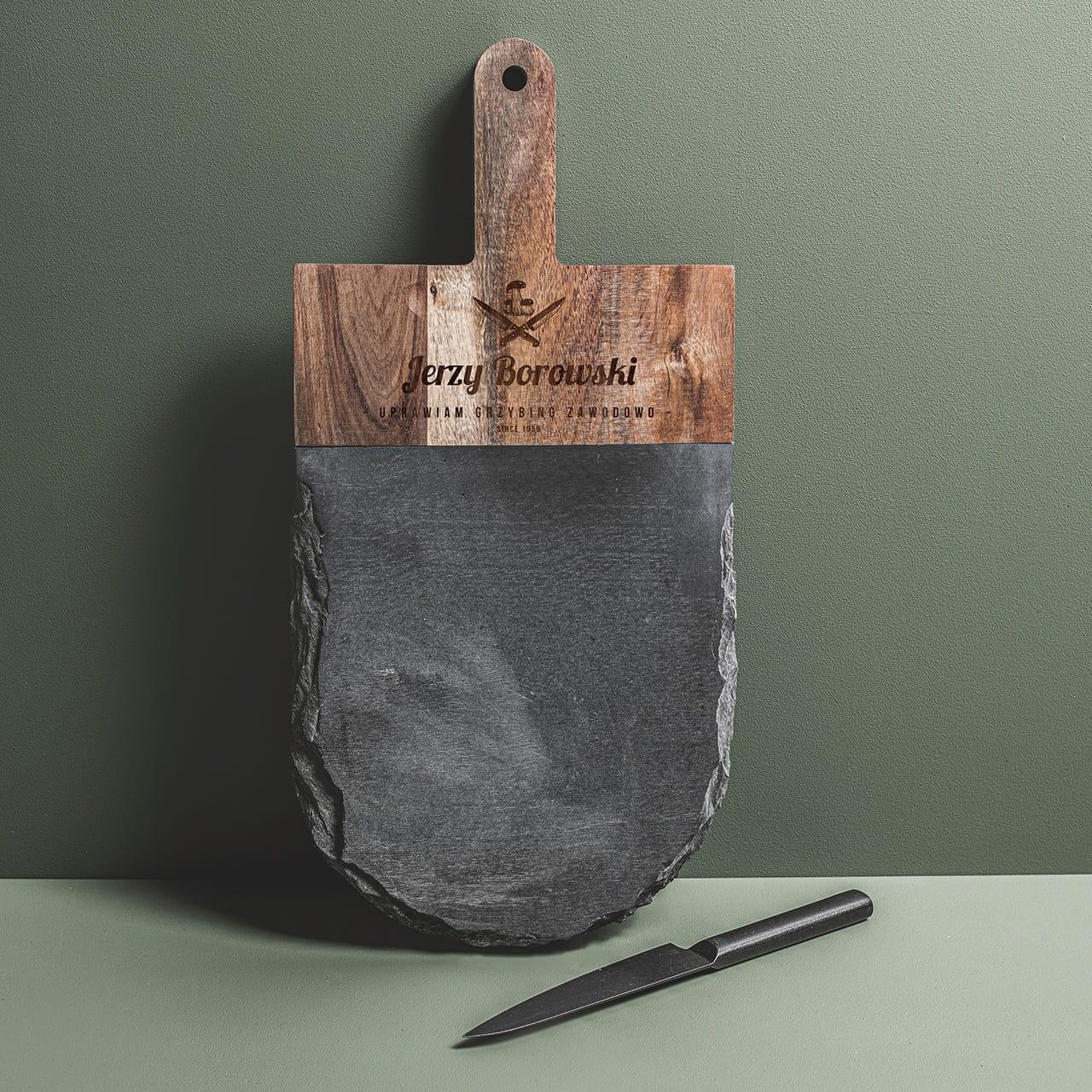 Deska do serwowania z grawerem GRZYBING