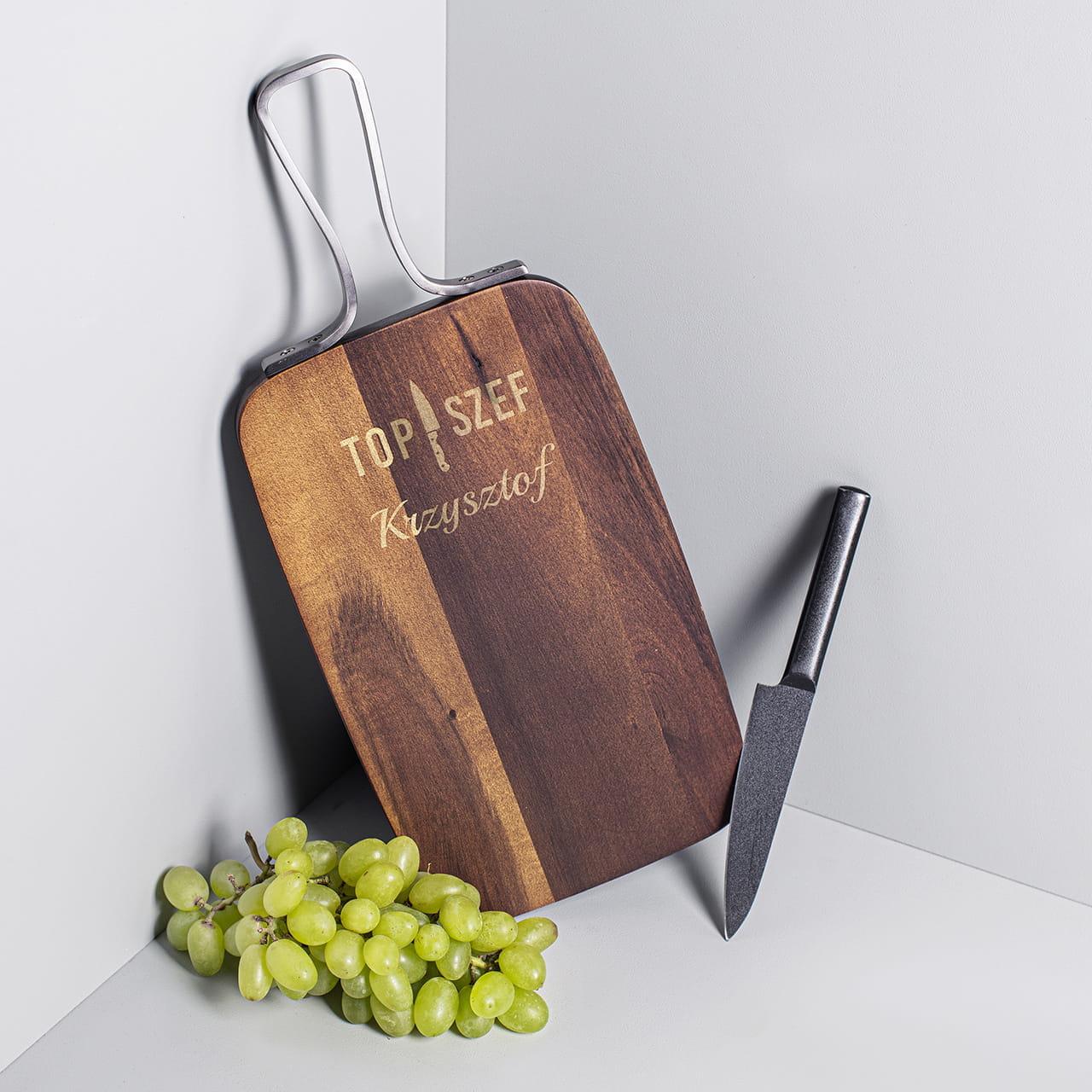 Deska do serwowania, czyli prezent dla Krzysztofa kucharza
