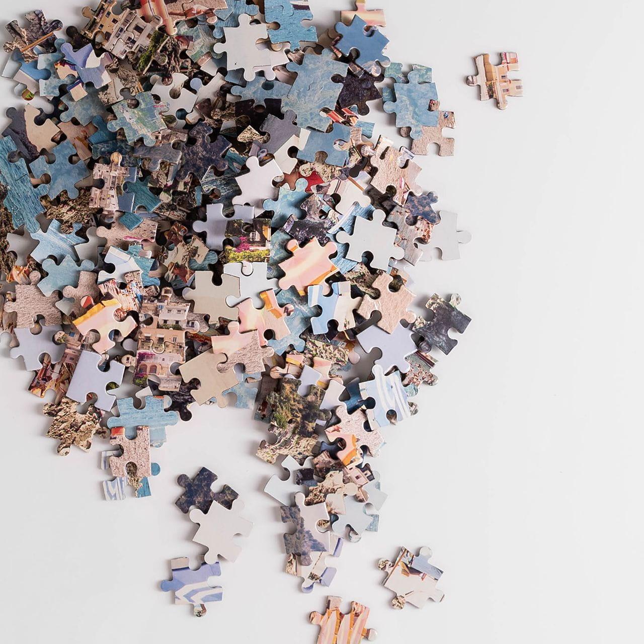 Dwustronne puzzle na prezent dla podróznika