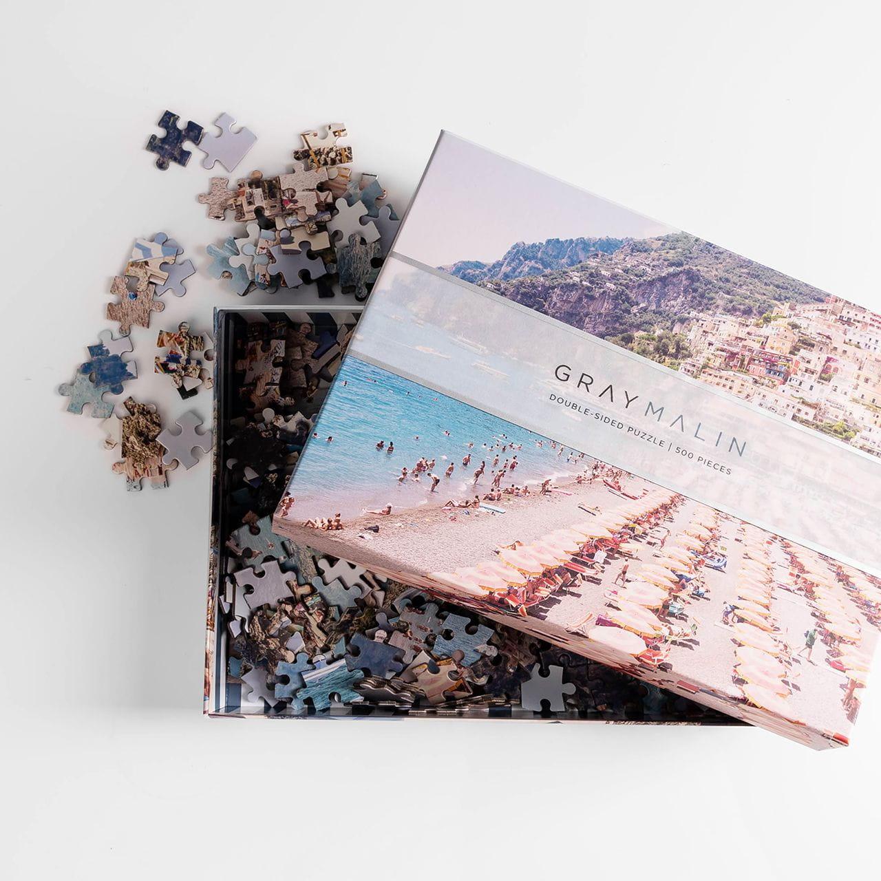 Dwustronne puzzle na prezent dla podróżnika