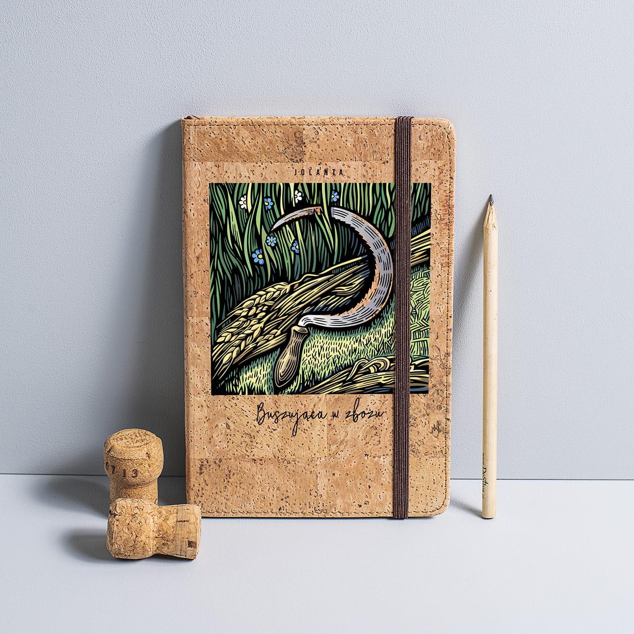 Ekologiczny notatnik w oprawie z korka BUSZUJĄC