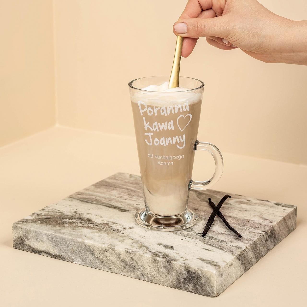Szklanka do latte na prezent dla kawosza