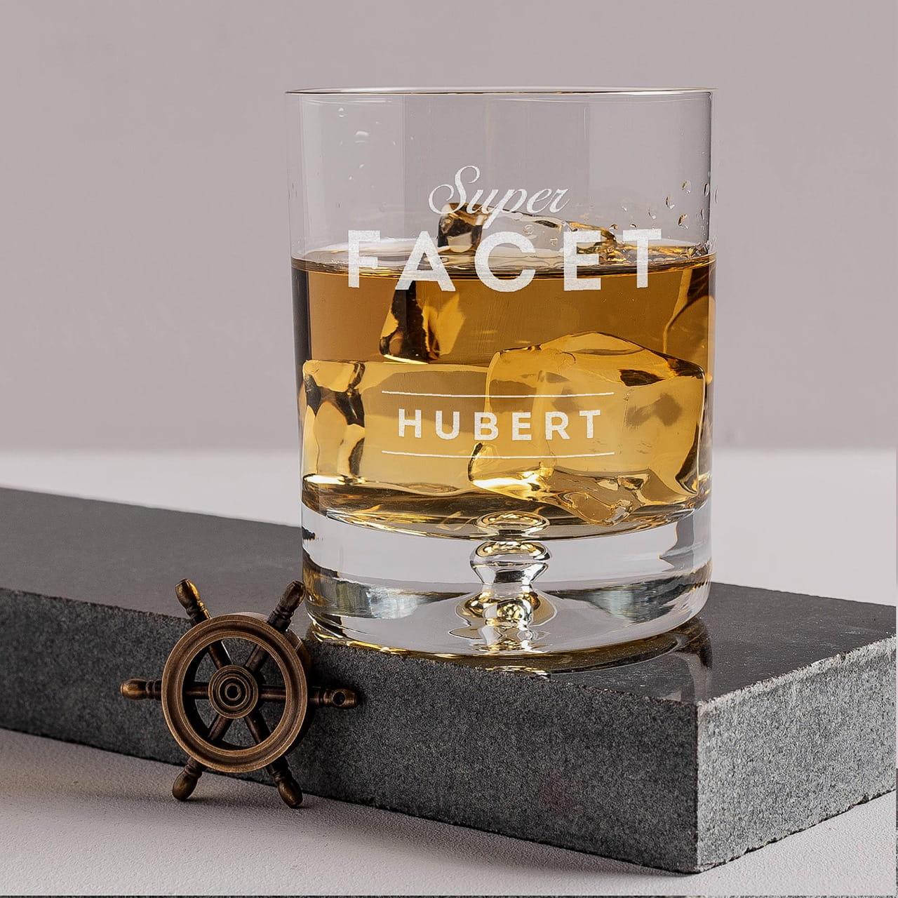 Grawerowana szklanka do whisky SUPER FACET