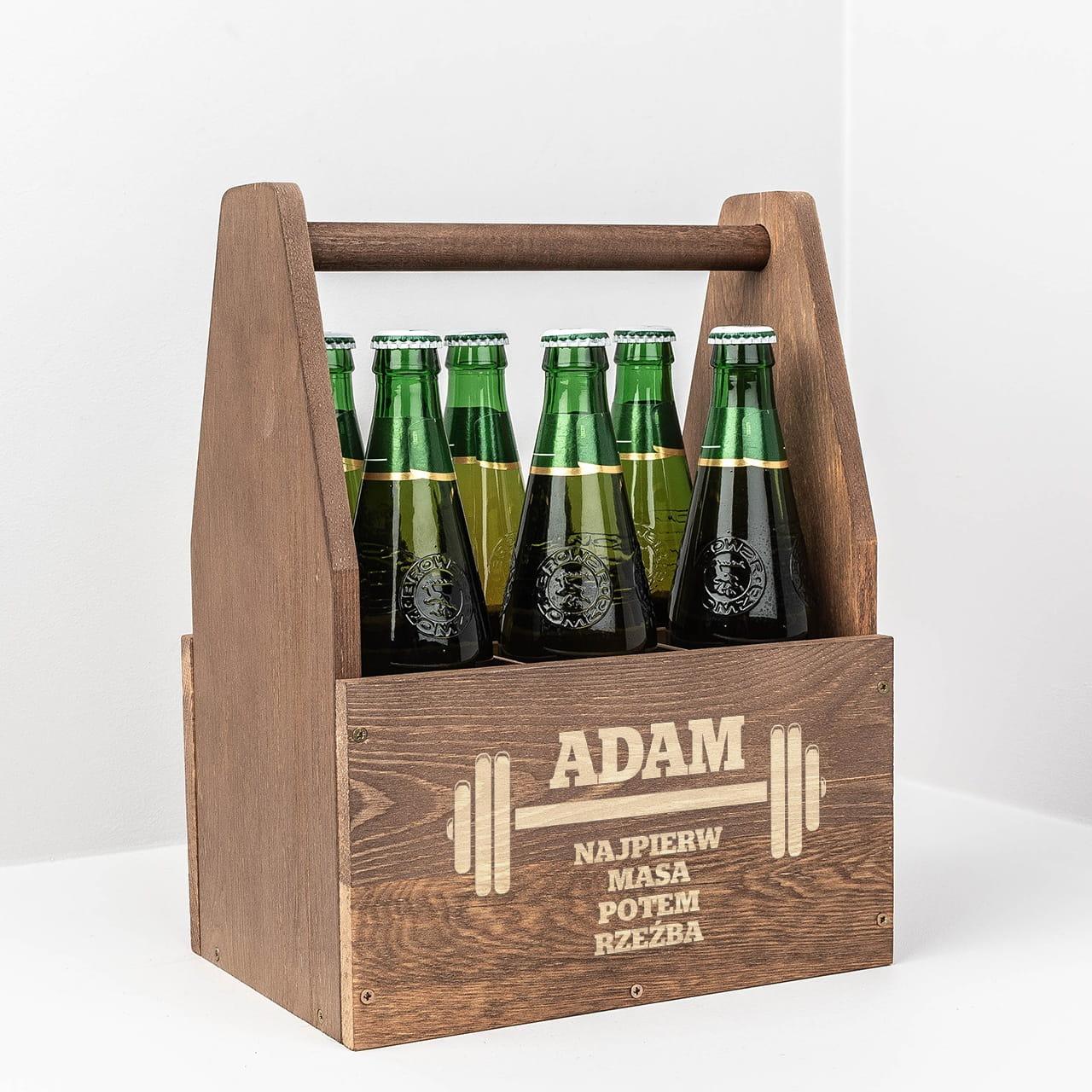 Grawerowane nosidło na piwo SIŁACZ