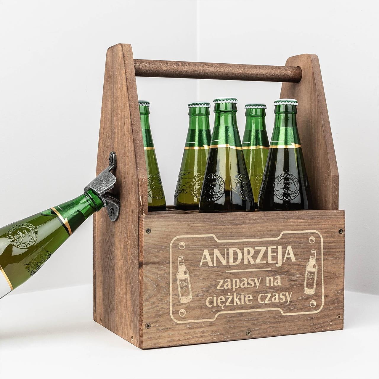 Grawerowane nosidło na piwo - prezent do 100zł dla chłopaka