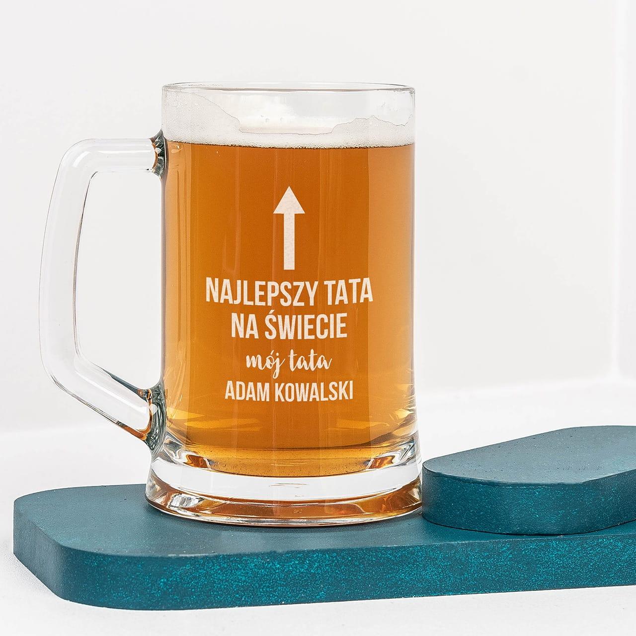 Kufel do piwa dla taty