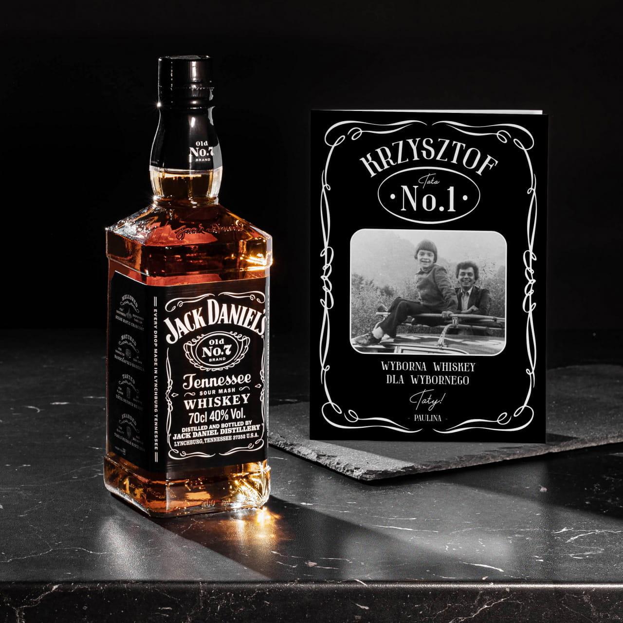 Whiskey JACK DANIEL'S + kartka ze zdjęciem