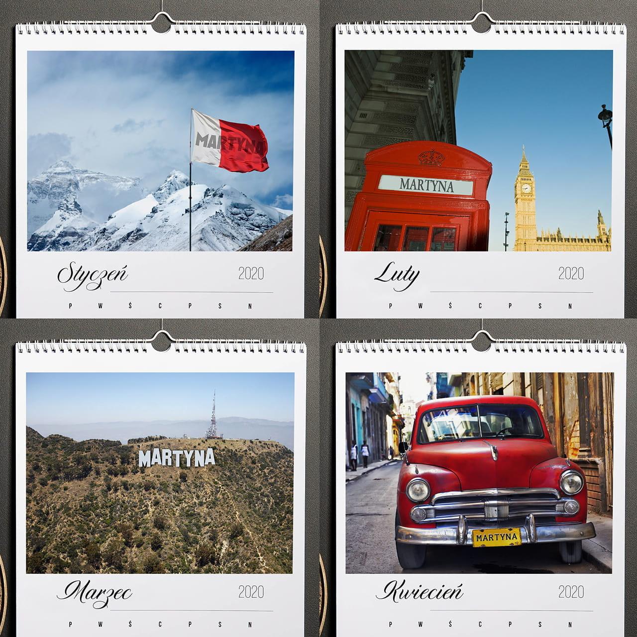Kalendarz na prezent dla podróżnika
