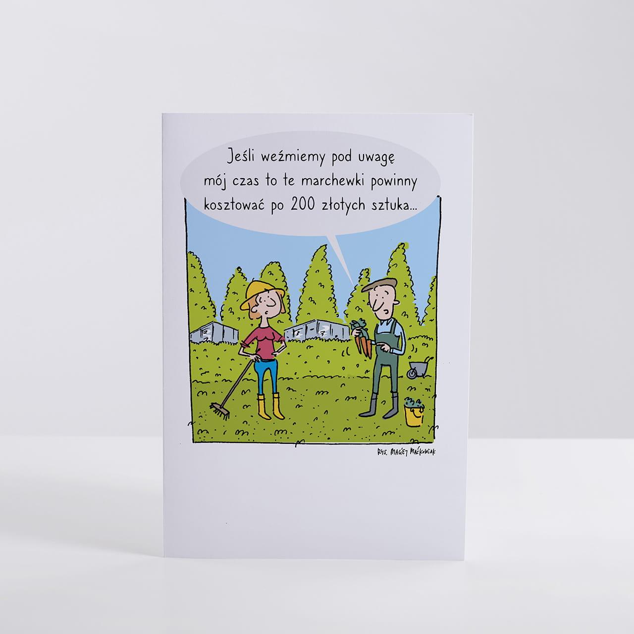 Kartka z życzeniami na prezent dla rolnika