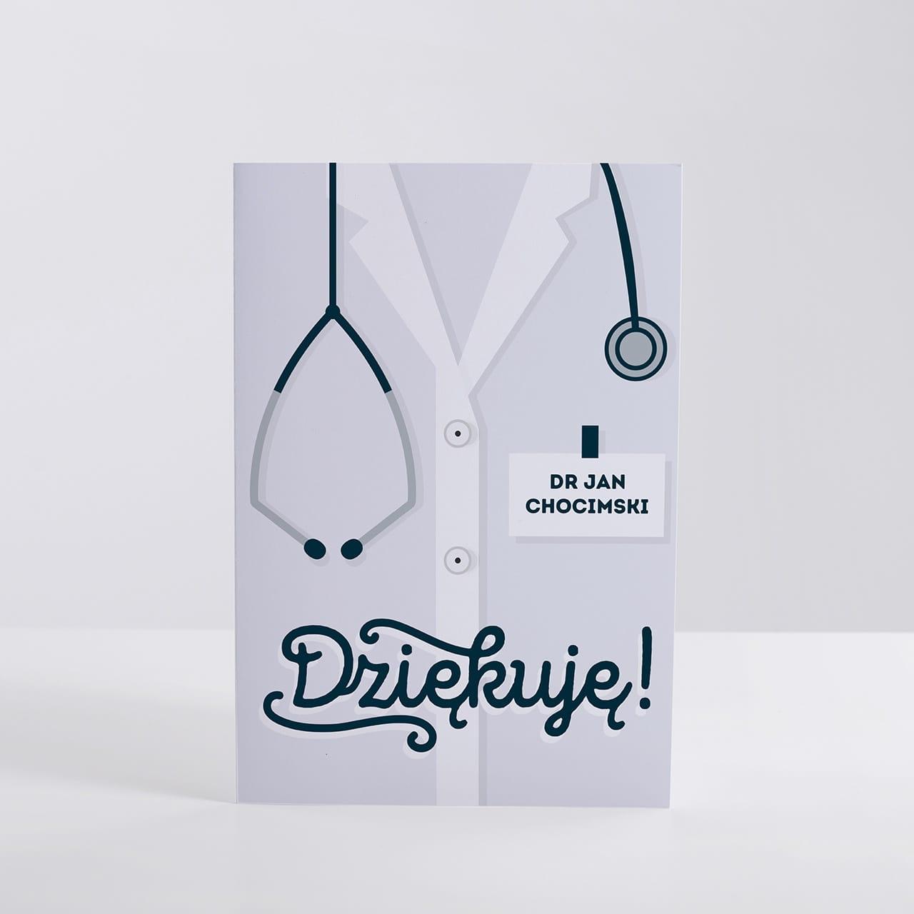 Kartka na podziękowanie dla lekarza