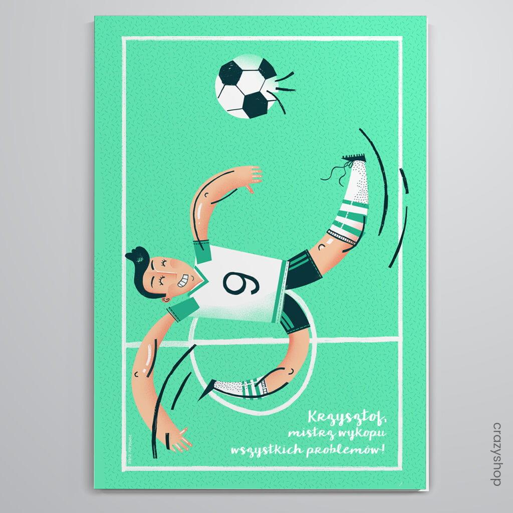 Kartka dla fana piłki nożnej MISTRZ WYKOPU