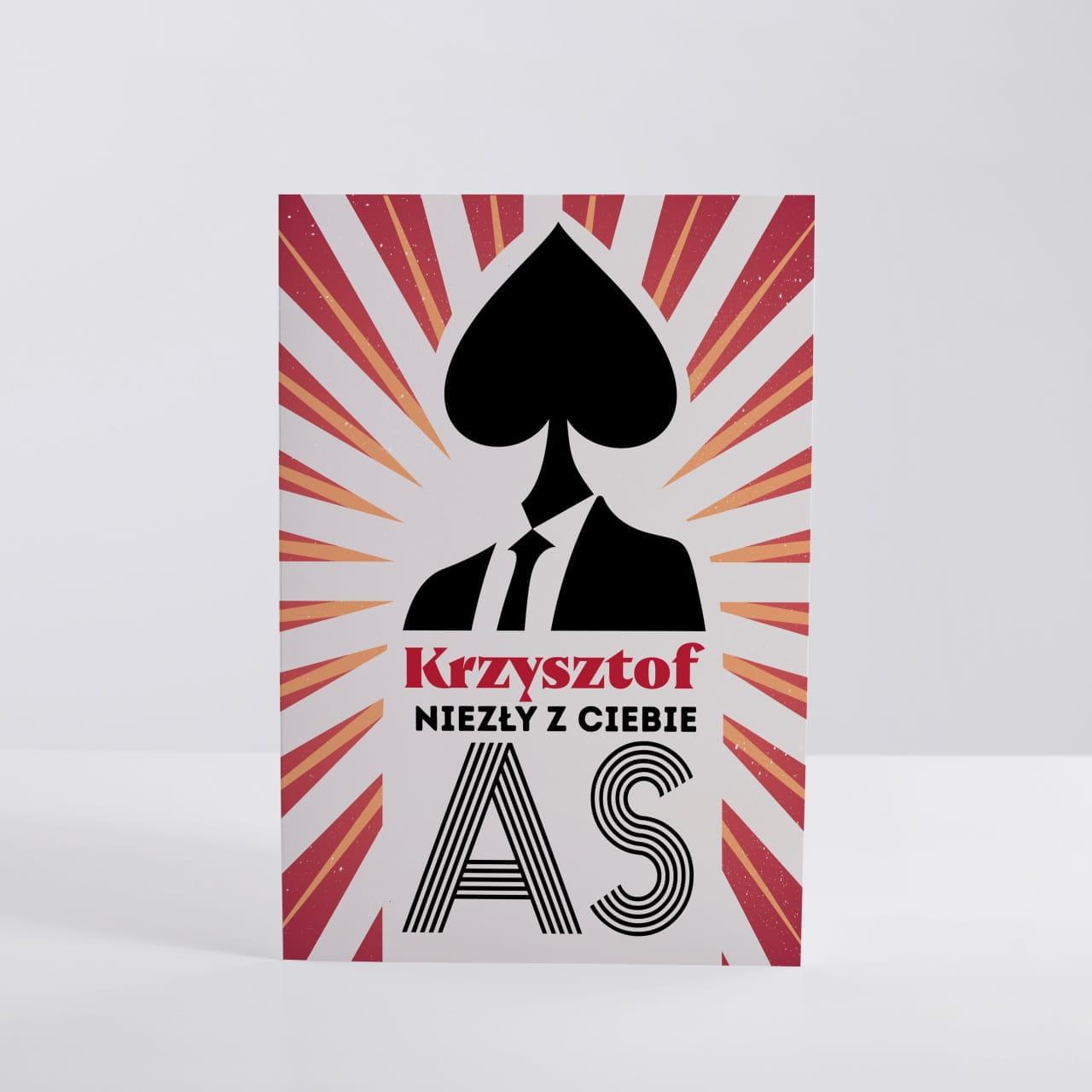 Kartka dla Krzysztofa NIEZŁY AS