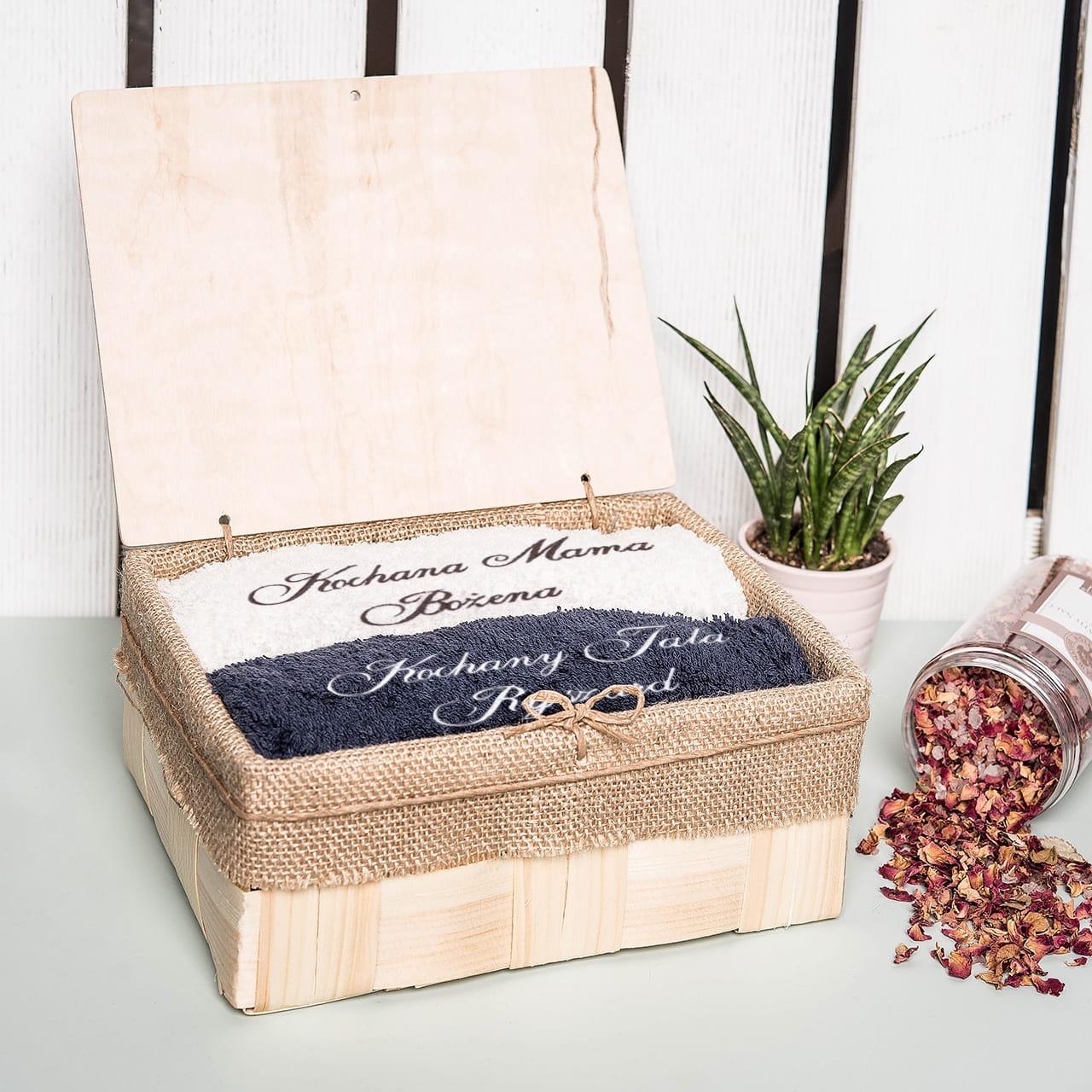 Komplet personalizowanych ręczników DLA RODZICÓW