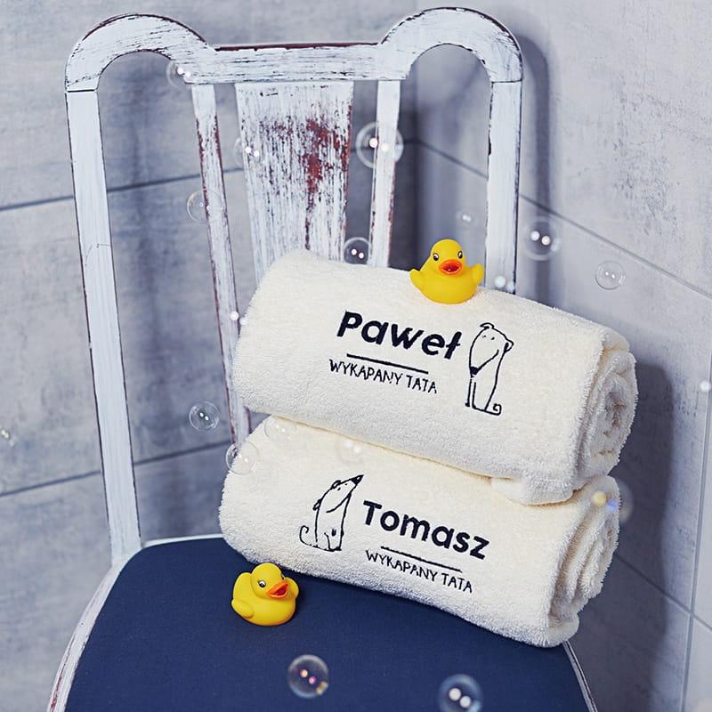 Ręczniki na prezent dla Pawła i syna