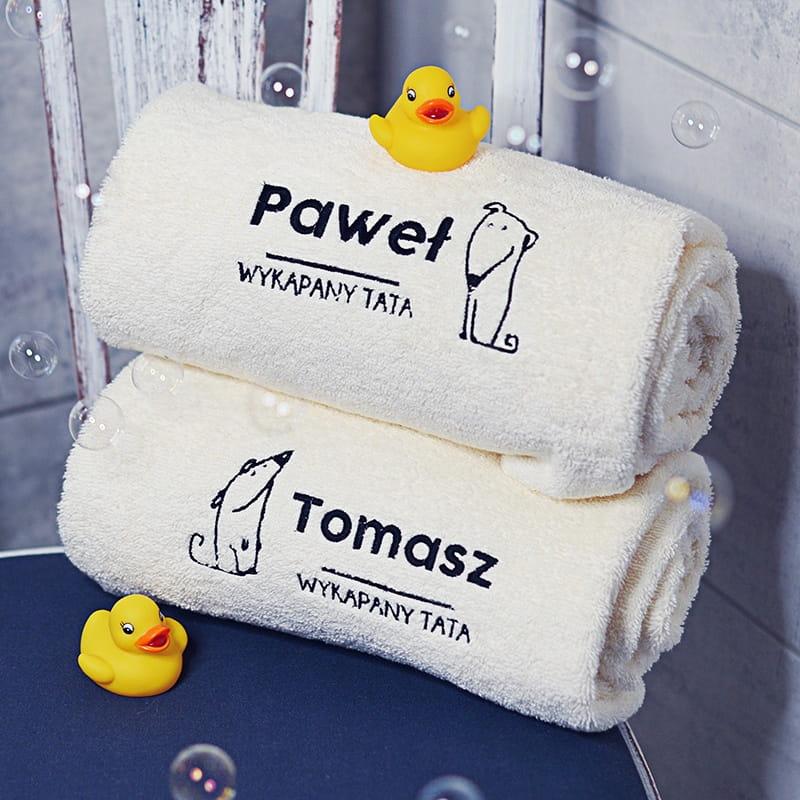 Komplet ręczników PREZENT DLA TATY I SYNA