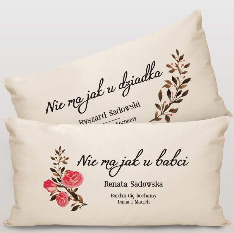 Poduszki na Dzień Babci i Dziadka