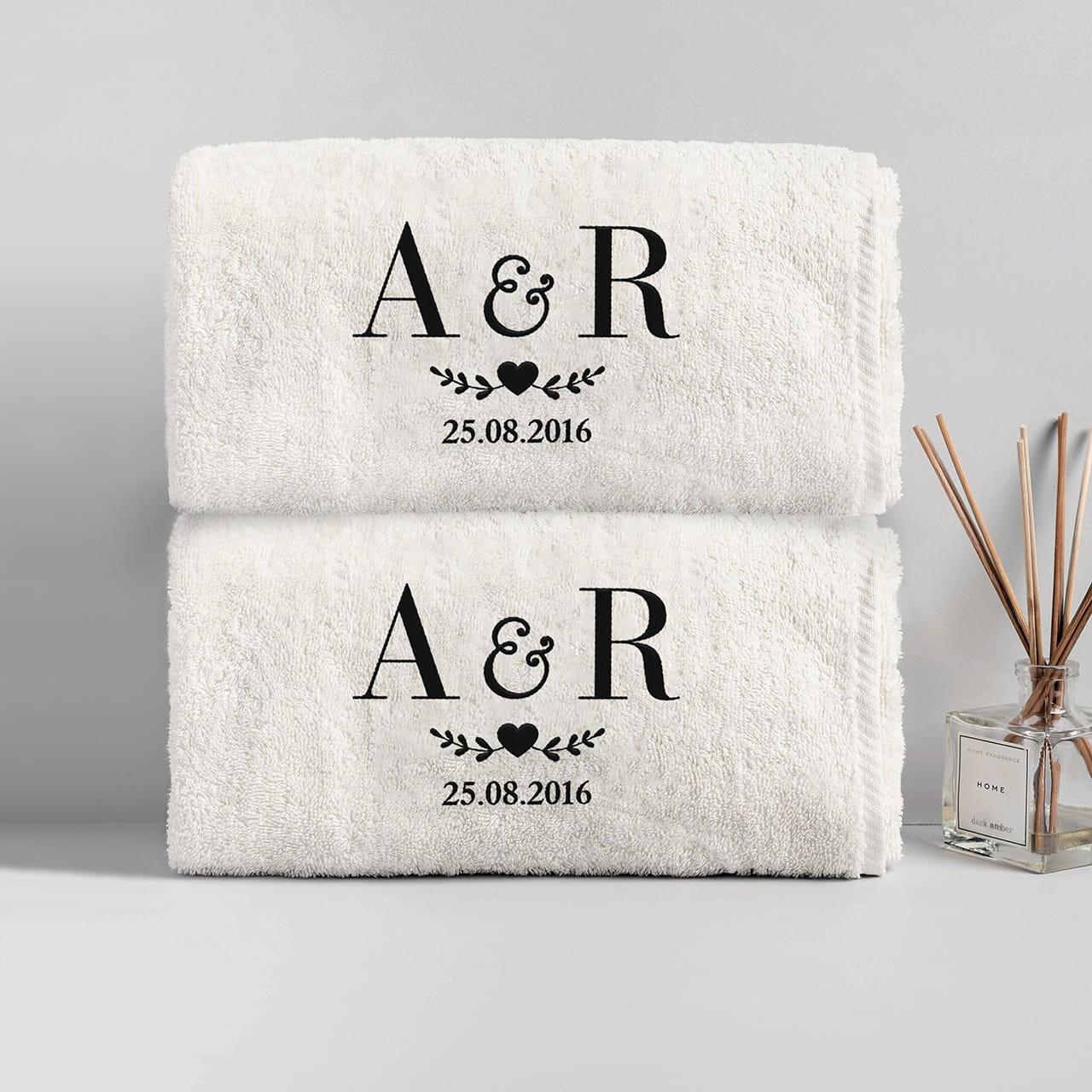 Komplet ręczników na ślub