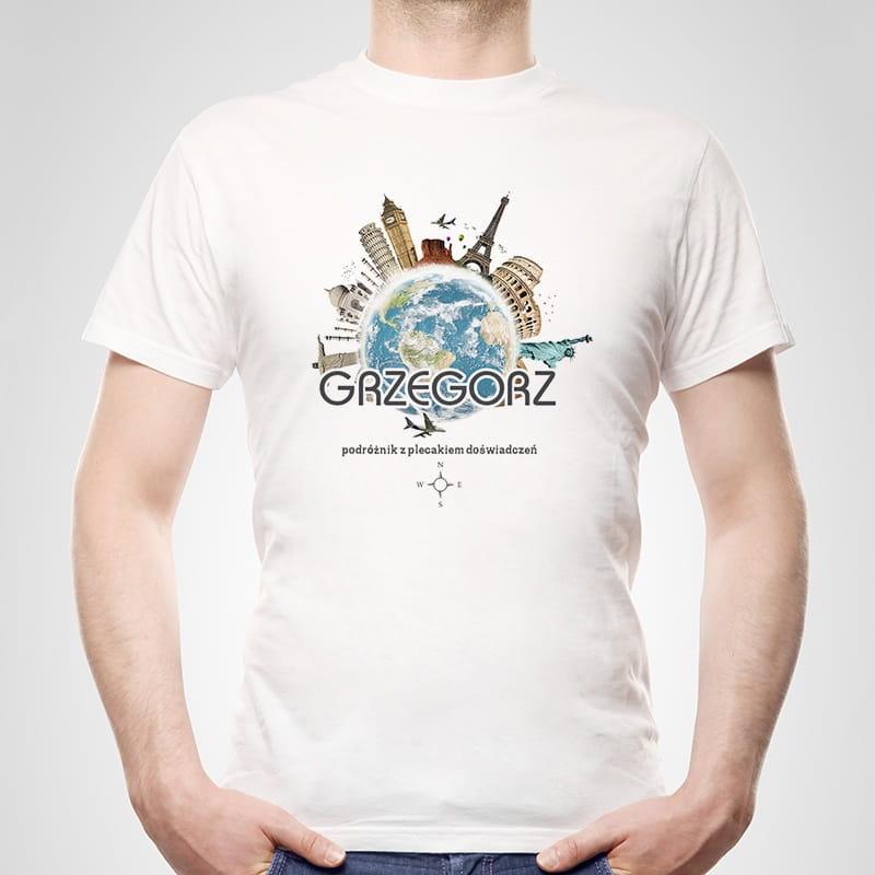 Koszulka męska z nadrukiem PODRÓŻNIK
