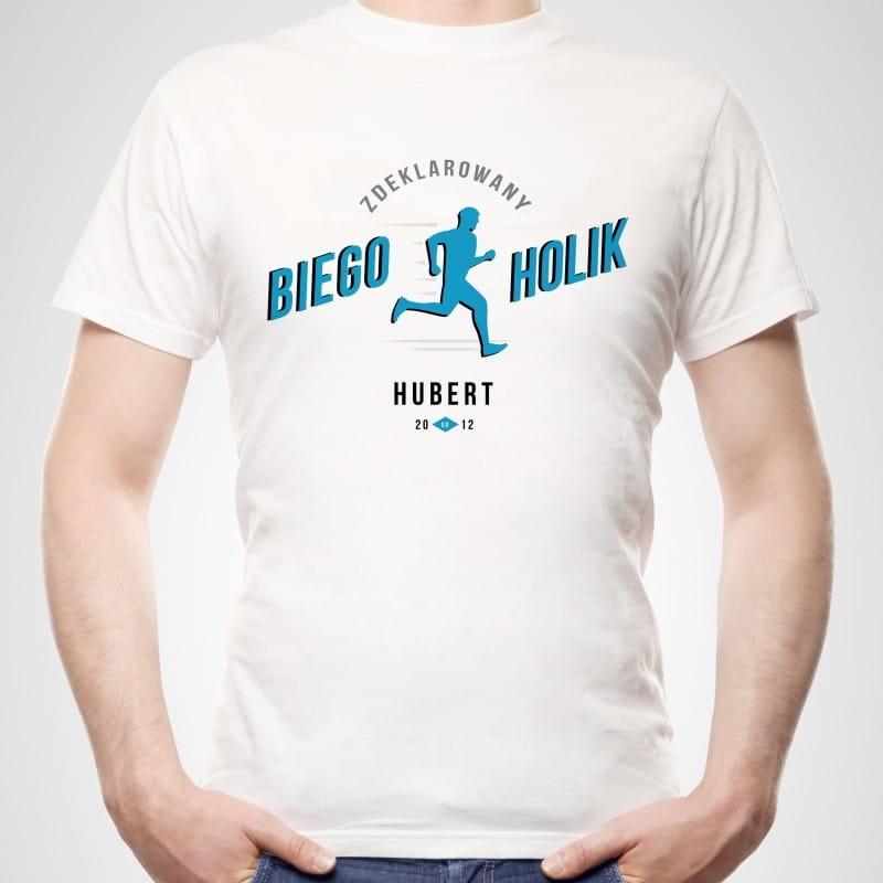 Koszulka męska z nadrukiem PREZENT DLA BIEGACZA