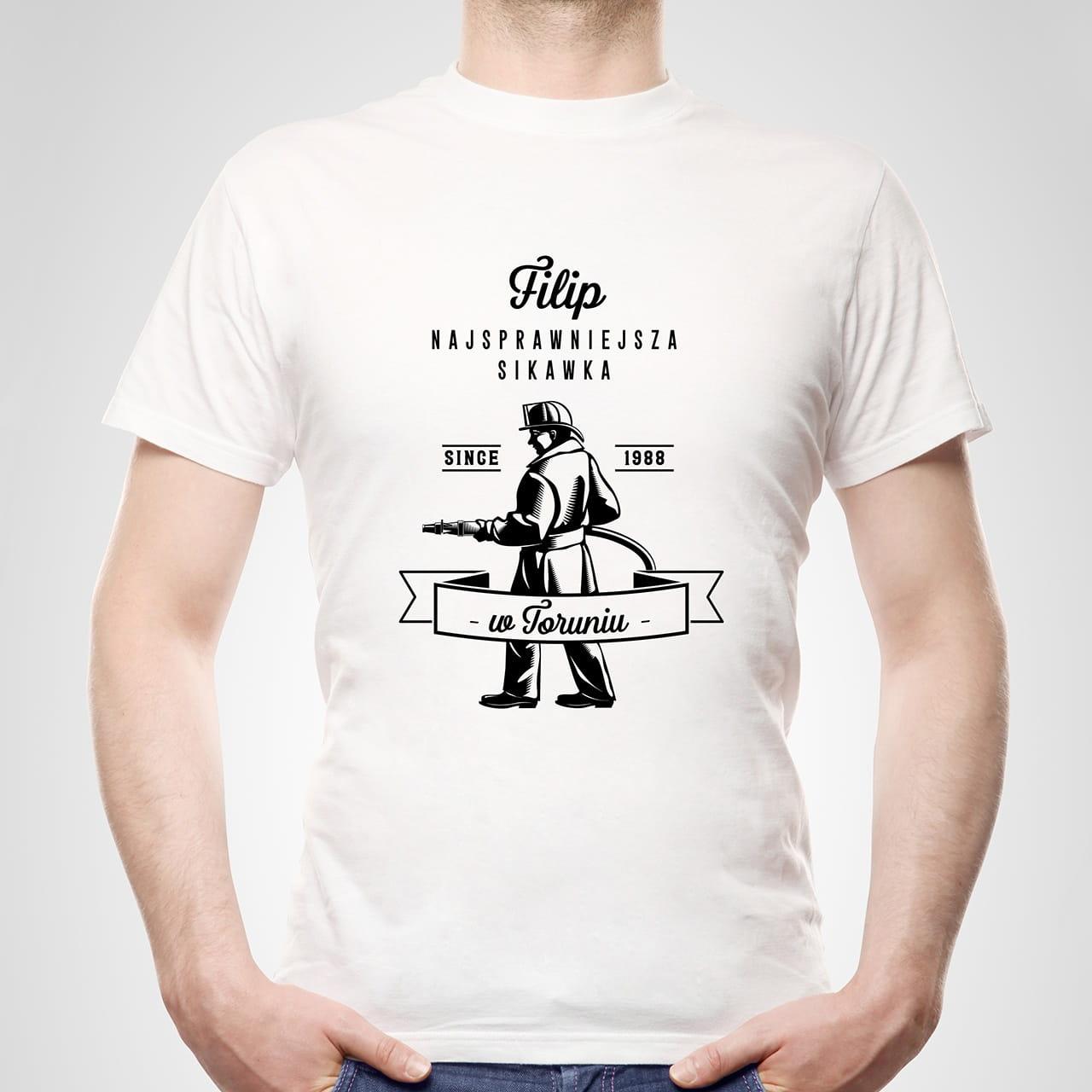Koszulka męska z nadrukiem SIKAWKA