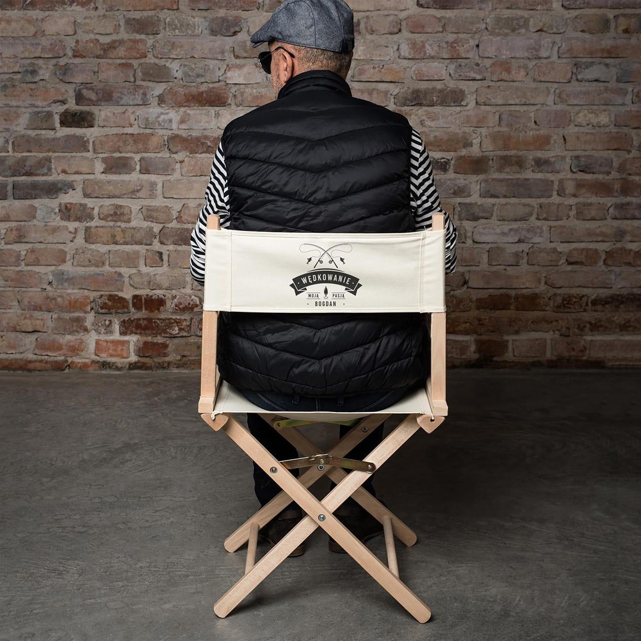 Krzesło reżyserskie WĘDKOWANIE