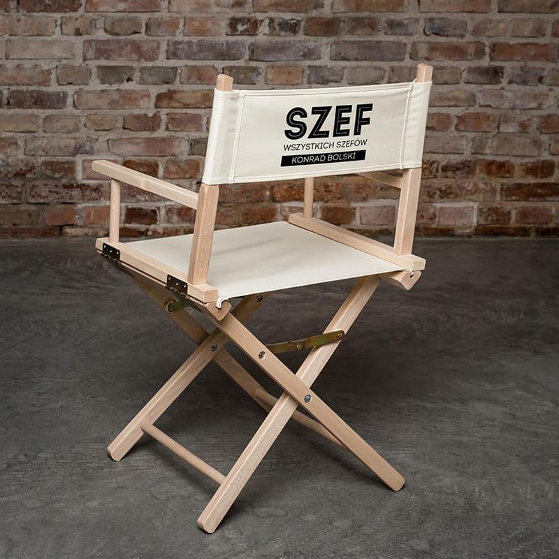 Krzesło reżyserskie na prezent dla szefa