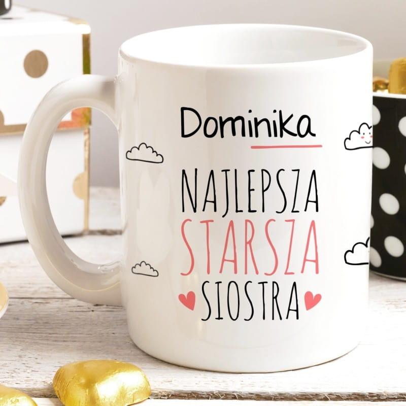 Kubek z nadrukiem STARSZA SIOSTRA