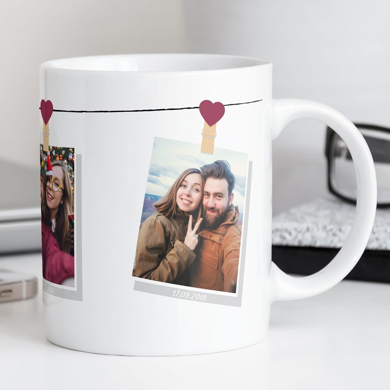 Kubek ze zdjęciami WSPOMNIENIA to wyjątkowy prezent dla żony do 200 zł