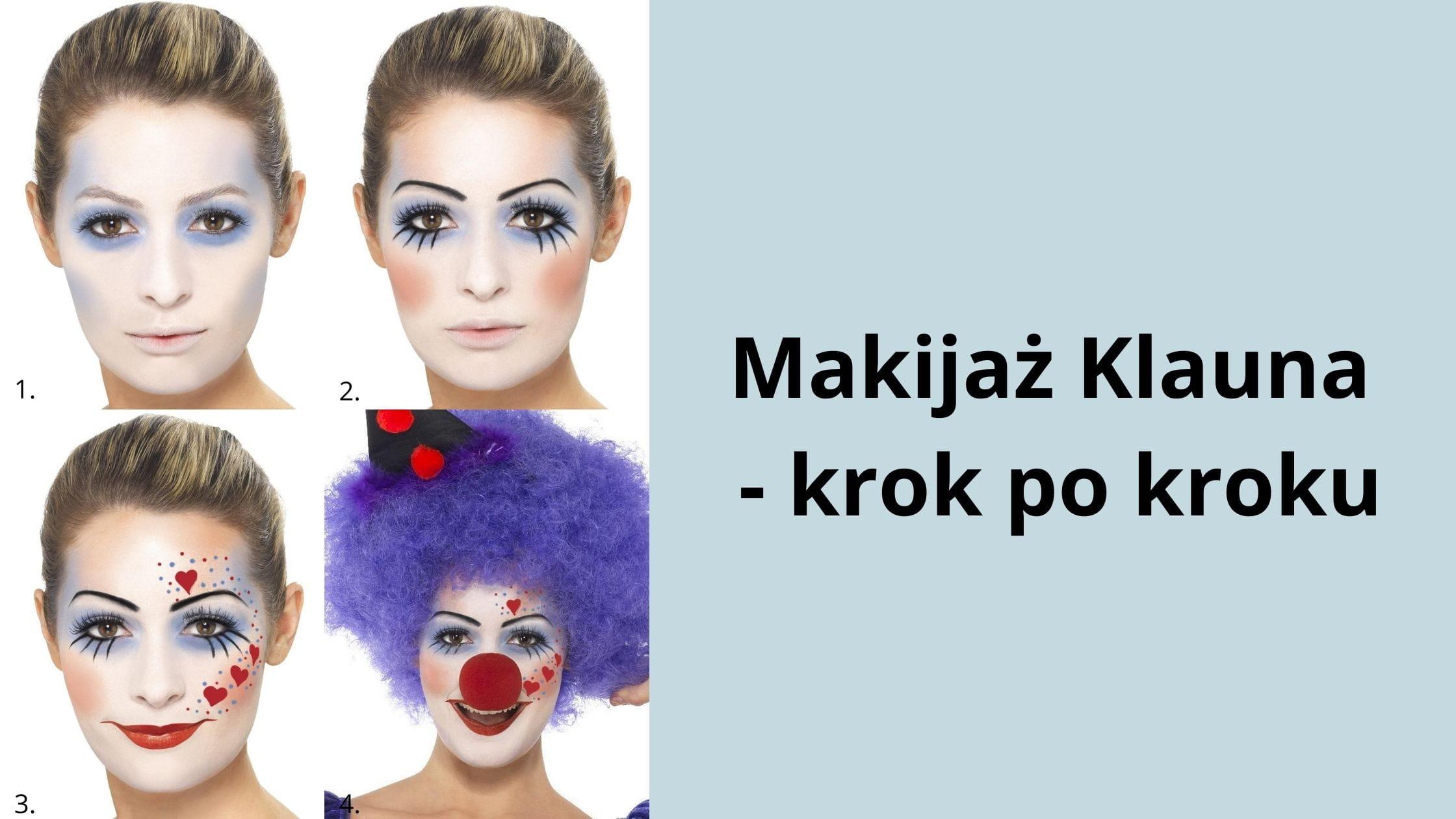 Makijaż Klauna - krok po kroku