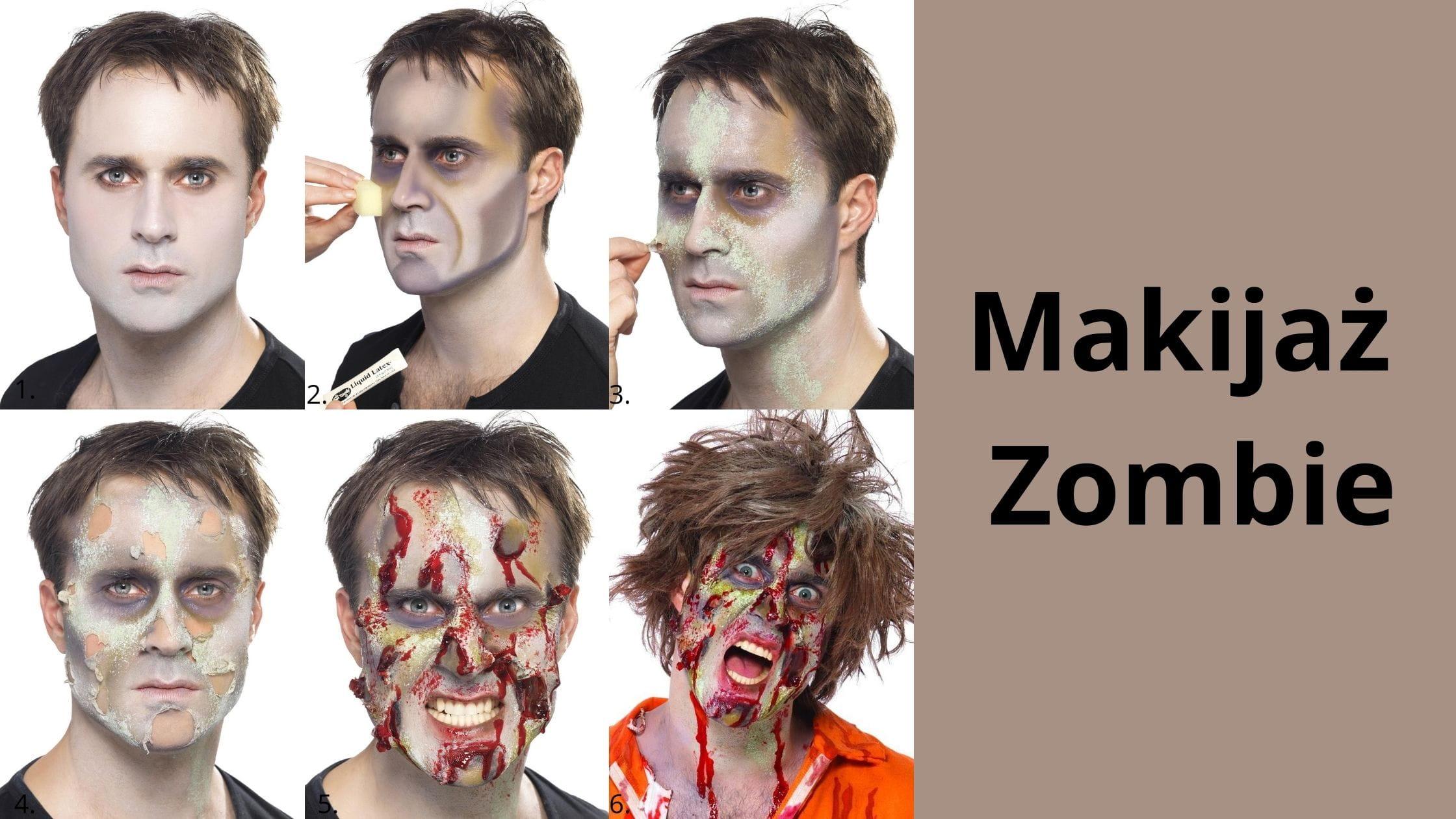 Malowanie twarzy ZOMBIE