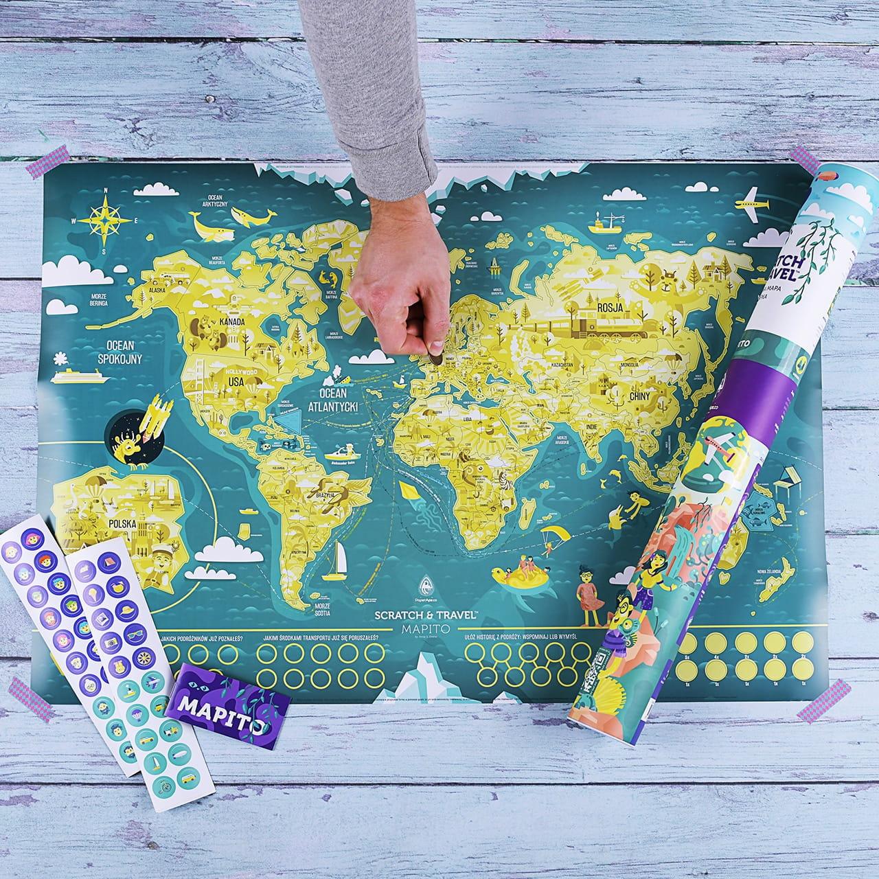 Mapa zdrapka MAPITO prezent dla dziecka