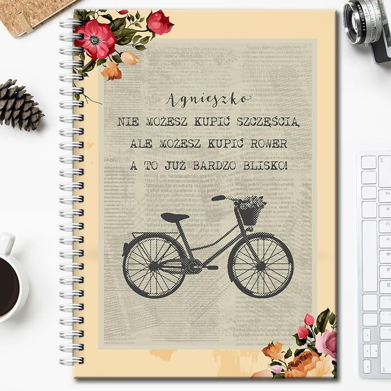 Notatnik na prezent dla rowerzysty