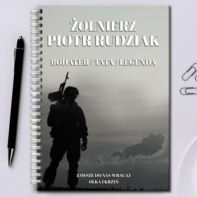 Notatnik na prezent dla żołnierza