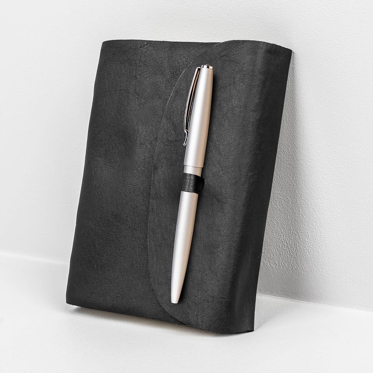 Notatnik skórzany z długopisem ELEGANCKI PREZENT