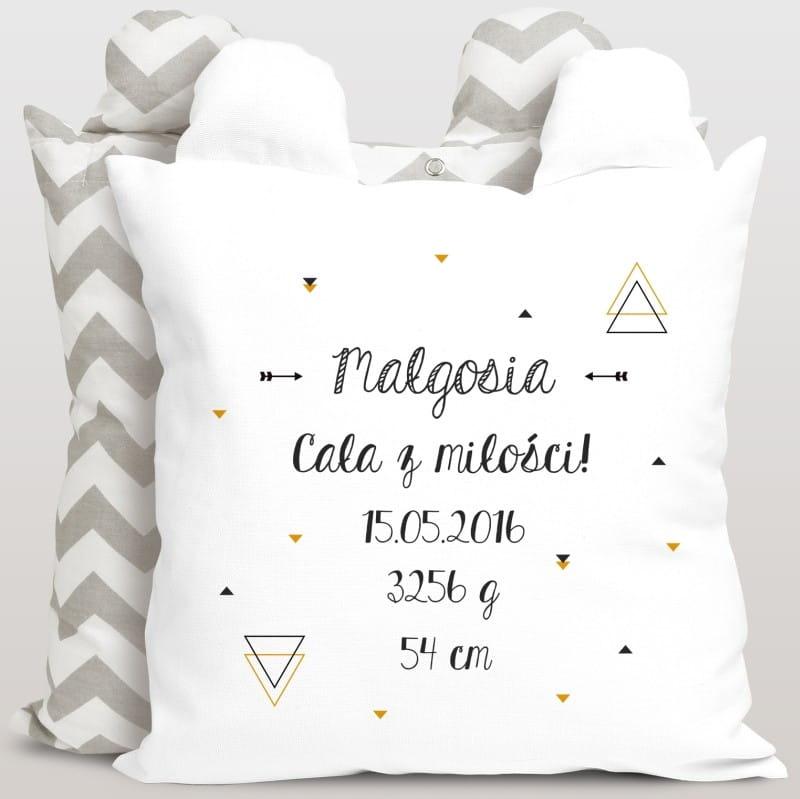 Personalizowana poduszka na prezent z imieniem dla niemowlaka