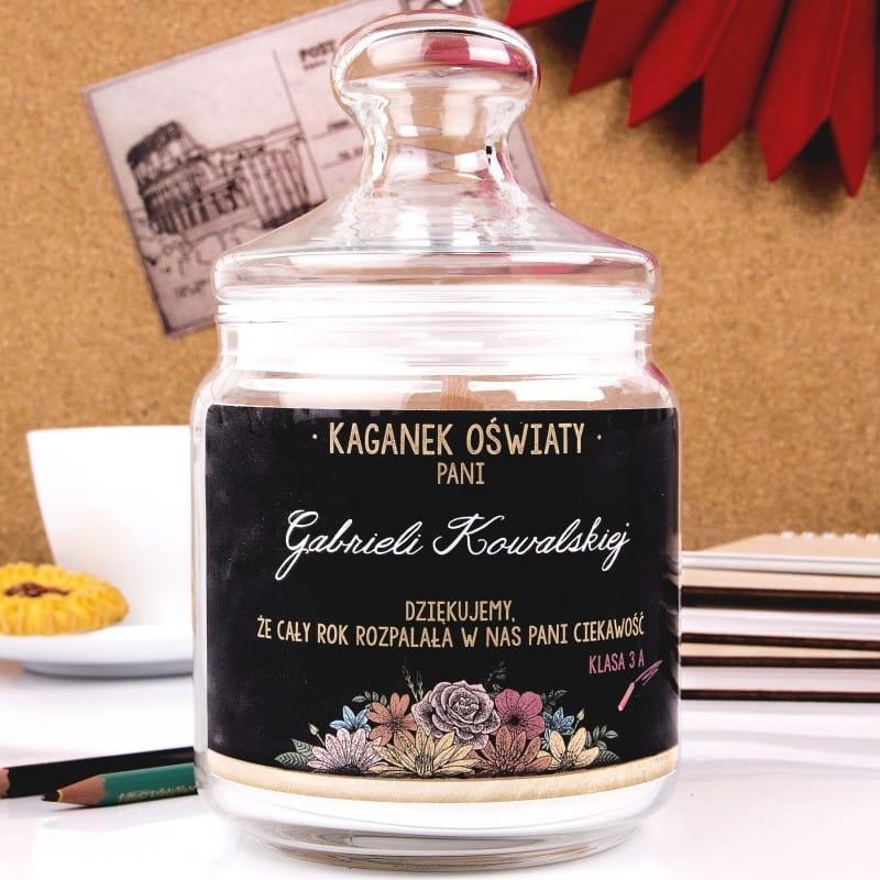 Personalizowana świeca zapachowa KAGANEK OŚWIATY
